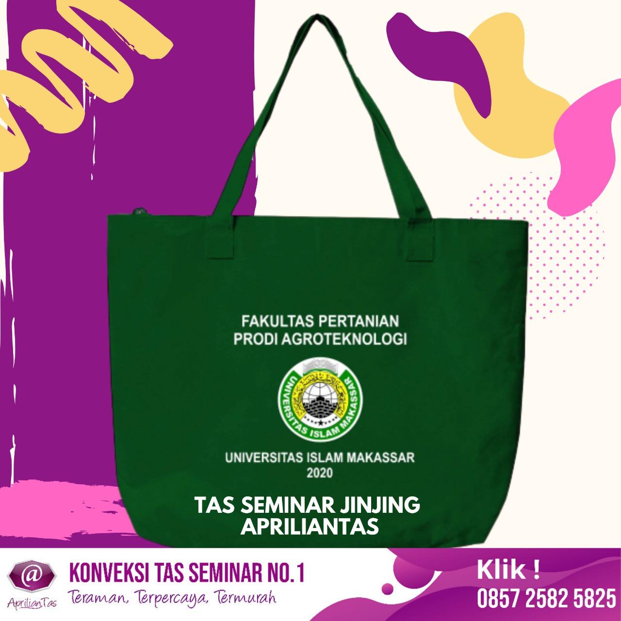 Contoh Desain Tas Seminar Jinjing TJ504 Pesanan Universitas Islam Makasar