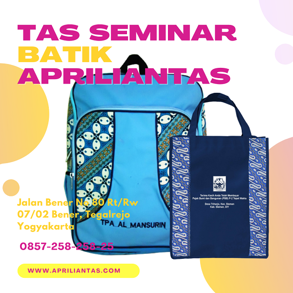 Tas Seminar Batik Semarang Berikut Rekomendasi Motif Batiknya