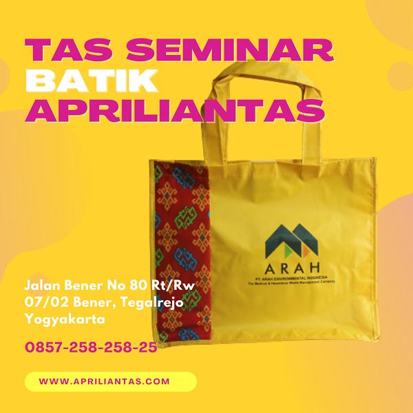 Konveksi Tas Seminar Batik Apriliantas Paling Terunggul? InilahFaktanya.